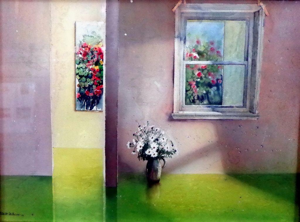 Flores con ventana