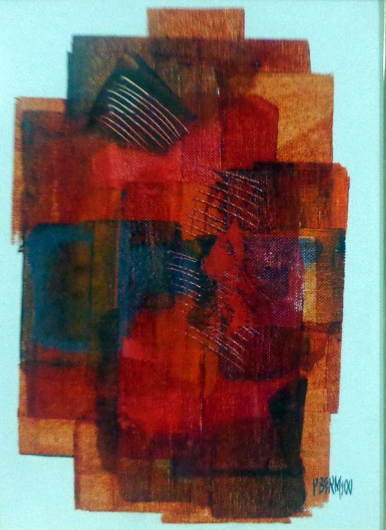 Composición en rojo y naranja
