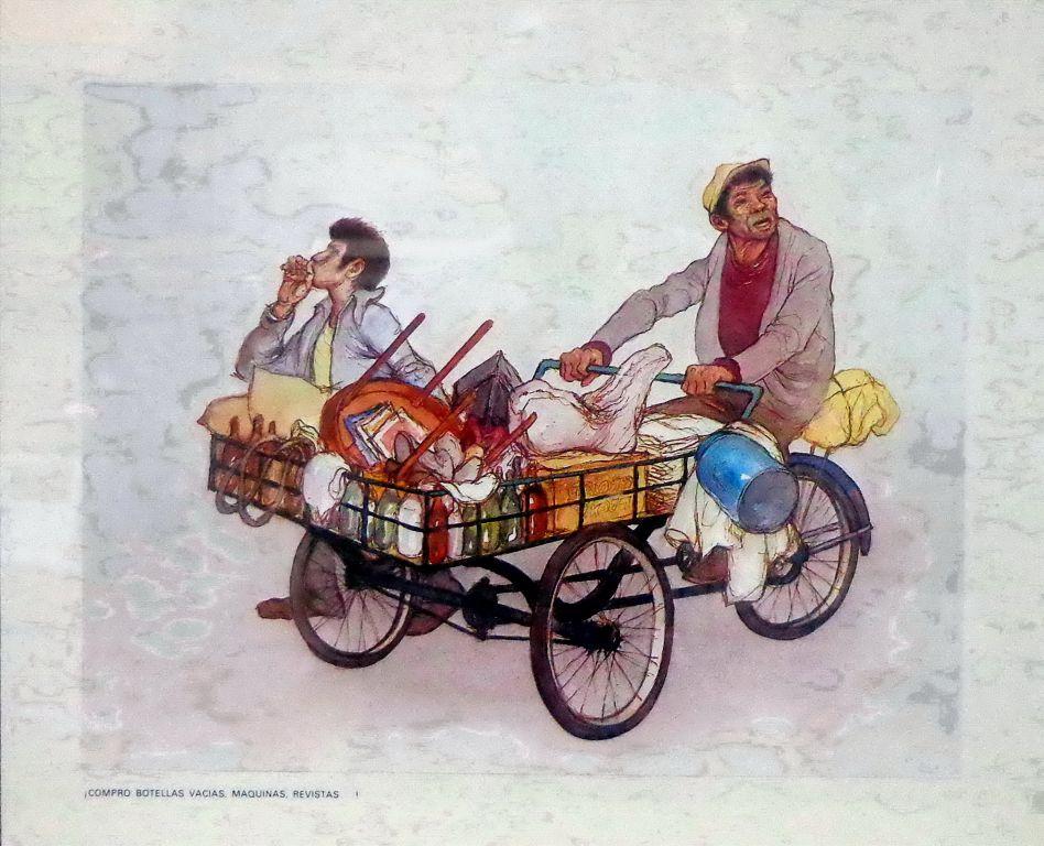 Hombres en carreta