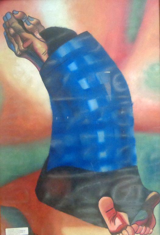 Mujer arrodillada