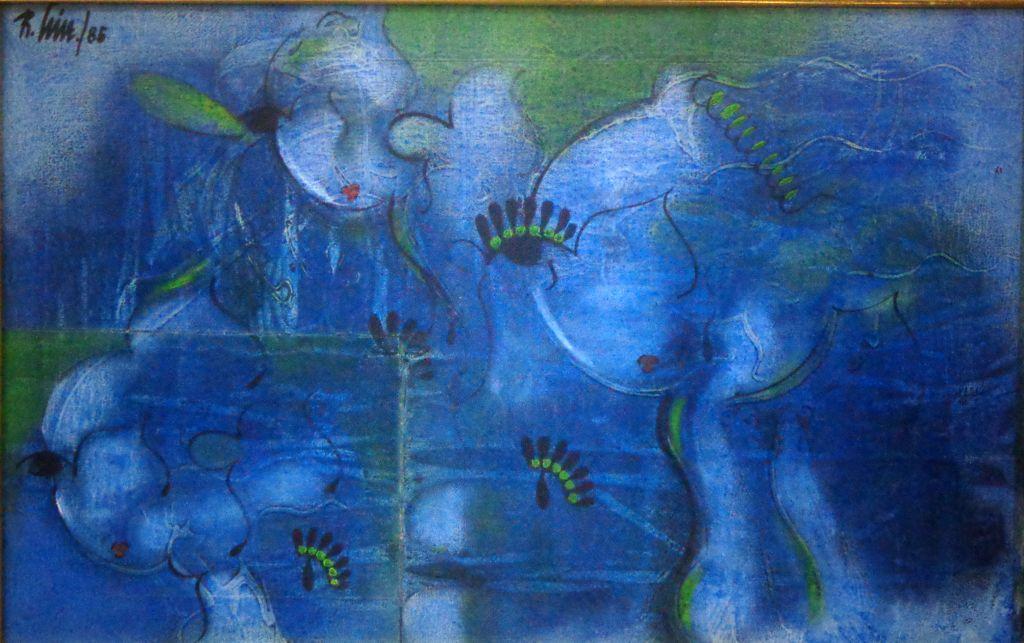 Composicion en azul