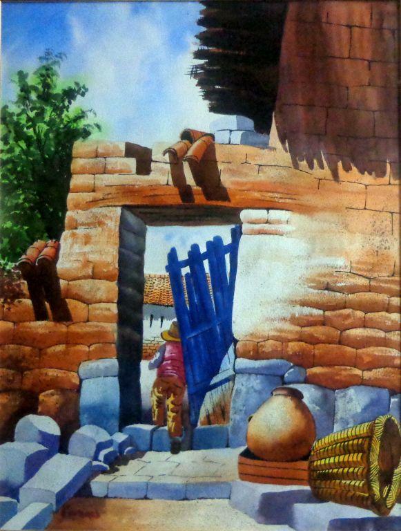Muro con puerta caída