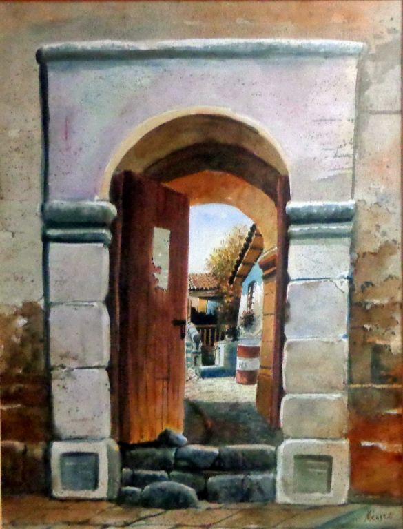 Puerta con paisaje