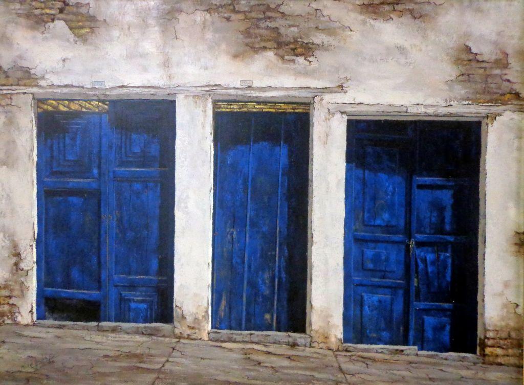 Interior en azul