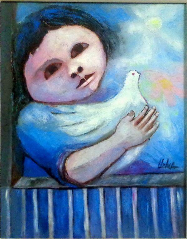 Niño y paloma